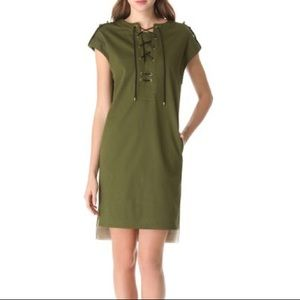 Derek Lam NWT sleeveless lace up tunic in moss 🌿